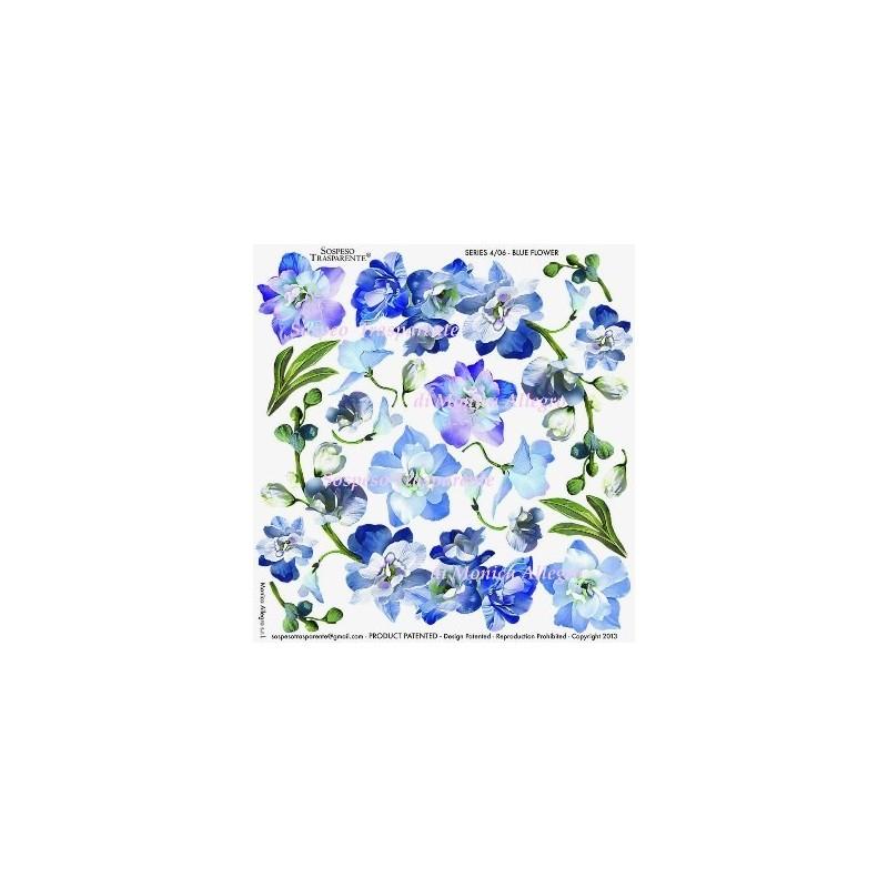 Pellicola stampata blue flower