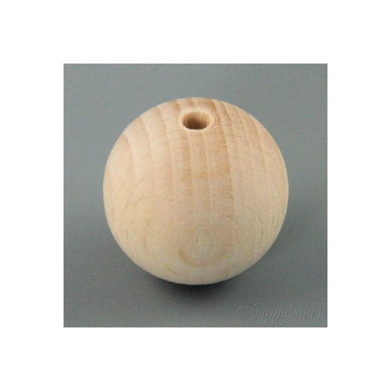 5 Sfere di legno diametro 35mm