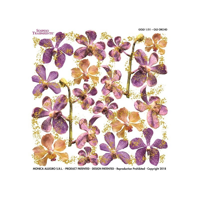 Pellicola gold old orchid