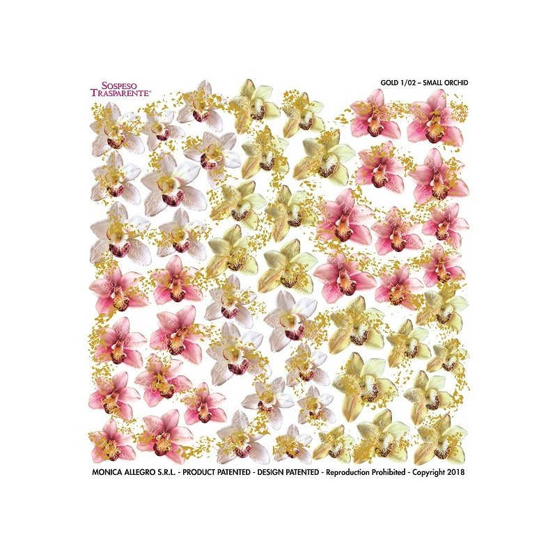 Pellicola gold small orchid