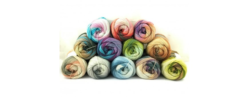 Lana MERINO ORO MULTICOLOR  filati di raffinata lana merino multicolor di altissima qualità