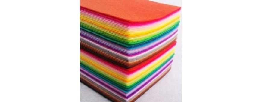 Pannelli di feltro colori tinta unita,misura 30x45cm, altezza 3mm