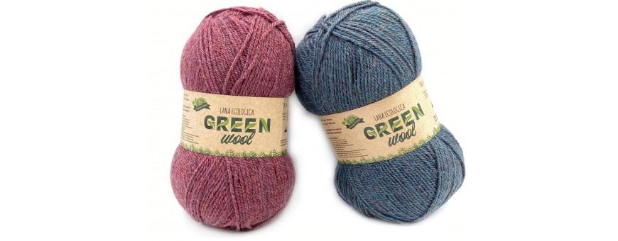 Lana GREENWOOL  gomitoli da 100gr-310mt  90% articolo riciclato-10% altre fibre  da lavorare con i ferri o l'uncinetto del 3-3,5  filato soffice e caldo, dalle splendide colorazioni melange