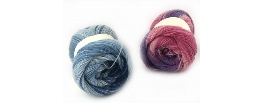 Lana ANGORA GOLD  raffinata lana di altissima qualità  10%mohair-10%lana merino-80%acrilico  100gr-550mt  da lavorare con i ferri o l'uncinetto del 3,5-4