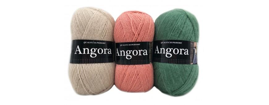 Lana ANGORA, Tre Sfere  bellissimi gomitoli di lana raffinata di altissima qualità  10%mohair-10%lana merino-80%acrilico  100 grammi - 550 metri  da lavorare con i ferri o l'uncinetto del 3,5-4