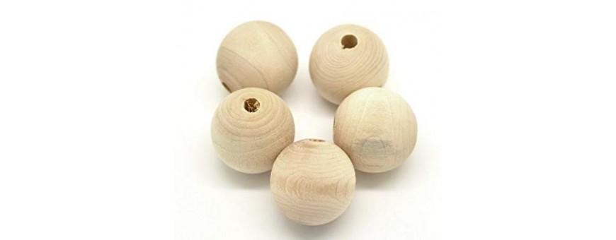 Pacchetti di sfere di legno con foro passante